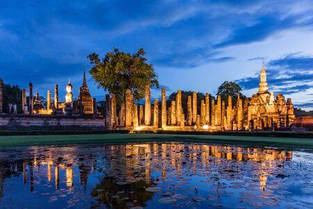 ayuthaya: Sukhothai historical park, Buddha Statue at Wat Mahathat in Sukhothai Historical Park,Thailand