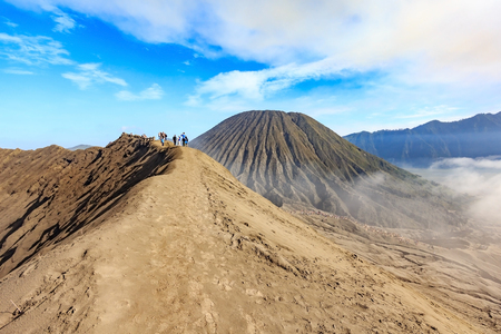 View from the top of an active Bromo volcano at Bromo Tengger Semeru national park - East Java, Indonesia