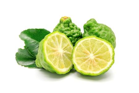 Bergamot 과일, 흰색 배경에 고립 된 베 르 가모.