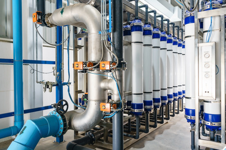 Modern water filtrating and purification system for industrial factory