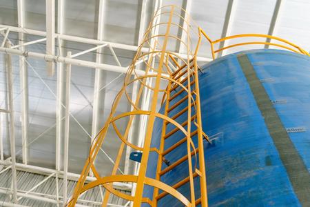 Ladder of water tank system, Schärfentiefe