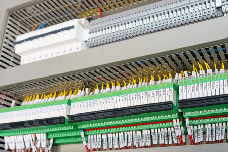 high technology Industrial Machine control by PLC programing logical control for manufacturing, The PLC Computer,PLC programable logic controler, Banque d'images