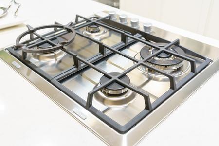 close up of Kitchen gas stove in the kitchen Archivio Fotografico