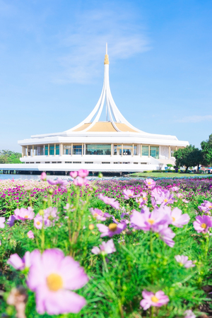 Suanluang RAMA IX Public Park and botanical garden,the largest in Bangkok,Thailand Stock Photo