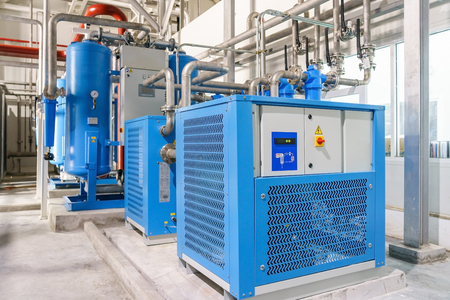 Refrigerated air dryer Ultrafilter for compressor air Banque d'images