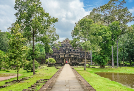 Panorama View of The Baphuon temple, Angkor Thom, Siem Reap, Cambodia.