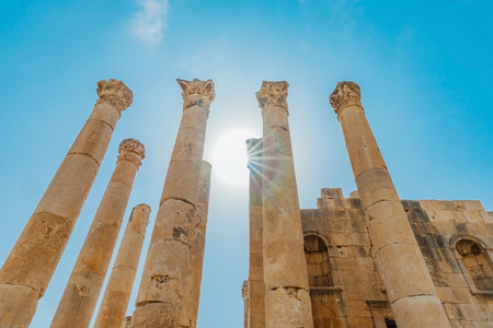 Temple of Artemis in the ancient Roman city of Gerasa, preset-day Jerash, Jordan.