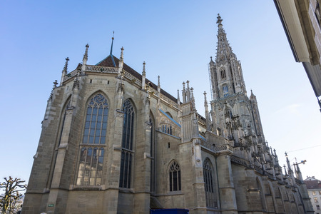 Beautiful Architecture Berner Munster cathedral in Switzerland