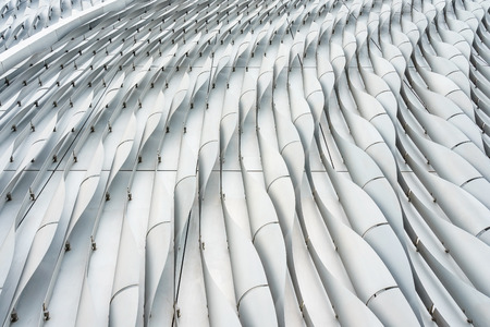 close up lines of a modern office building in black and white