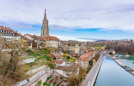 Panoramic view on the magnificent old town of Bern, capital of Switzerland