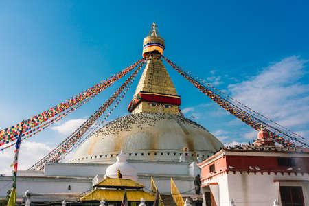 Buddhist stupa of Boudhanath, Kathmandu, Nepal, Asia. World Heritage Site