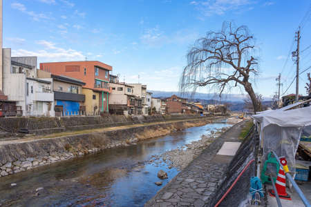 Sightseeing around old Town Hida-Takayama downtown with lot of shop building and long walkway. Takayama is famous city on middle of Japan and easy to travel.
