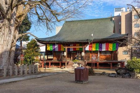 Hida Kokubunji old Shingon Buddhist Temple of Takayama, The wooden main hall is one of Takayama oldest building from Marunochi period (A.D.1336-1573) Фото со стока - 152128934