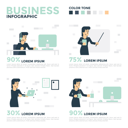 demographics: Business Infographics. Business concept illustration. Illustration