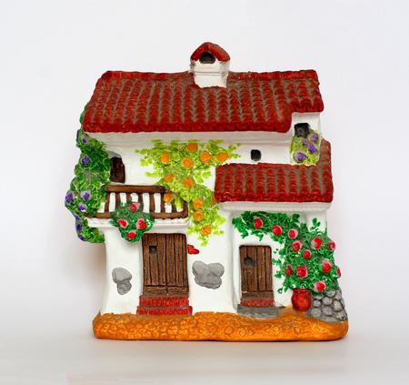 small terracotta hous Stock Photo