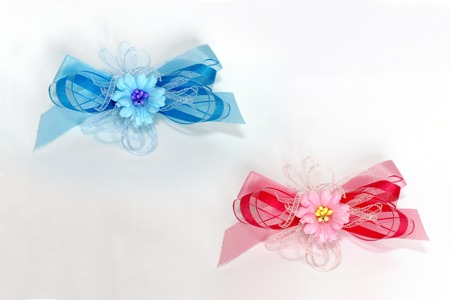 two small tape bows