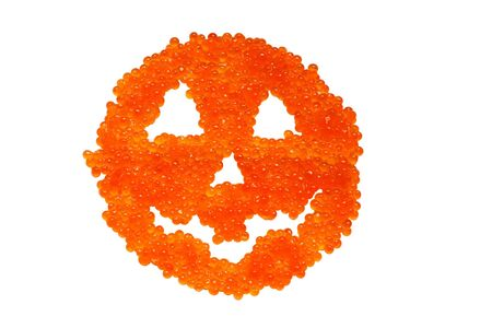 Funny caviars spooky smile for halloween  Stock Photo