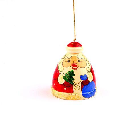 Tiny russian Santa Claus for Christmas tree Stock Photo