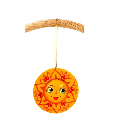 sunny attached to string to the grip of present basket Stock Photo - 2051748