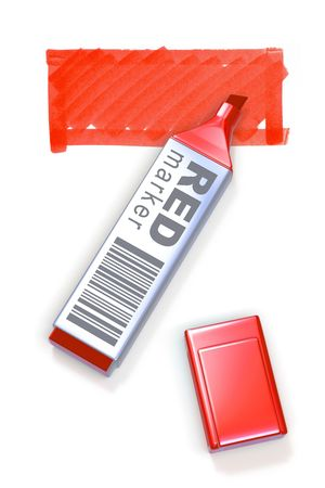 Red marker and selected area Stock Photo - 6856761