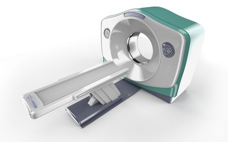 MRI scanner isolated on white background Stock Photo - 6856746