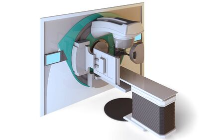 Linear Accelerator isolated on white background Stock Photo - 6856674