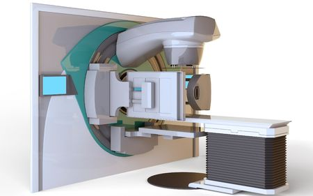 Linear Accelerator isolated on white background Stock Photo - 6856676