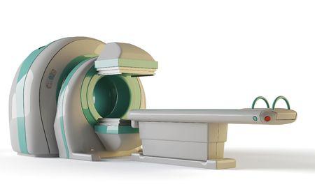 MRI, tomógrafo aislado sobre fondo blanco