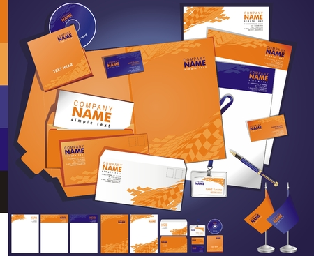 corporate identity template: Layout creative contemporary business tamplate
