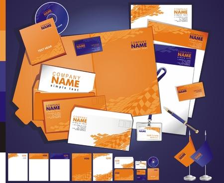 carta identit�: Layout di business creativo contemporaneo tamplate