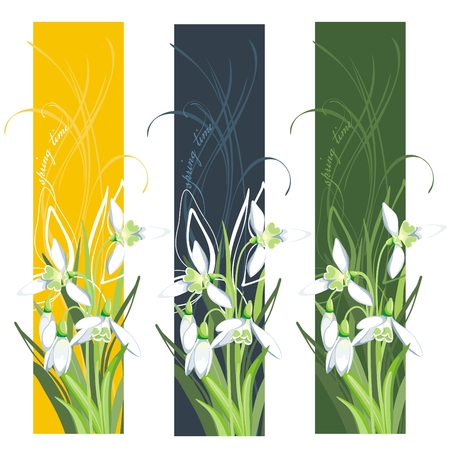 early blossoms: Vertical Banner with spring flower