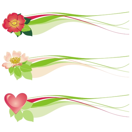 Floral decorative design with hearts Stock Vector - 6856760