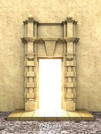 archway: A 3d illustration of classical portal in to the Light.