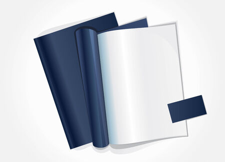 publish: Vector illustration of blank page of a magazine