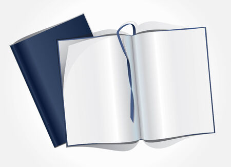 mag: Vector illustration de la page blanche d'un magazine