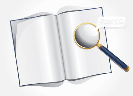 Vector illustration of magnifier and layout magazine Stock Vector - 7797119