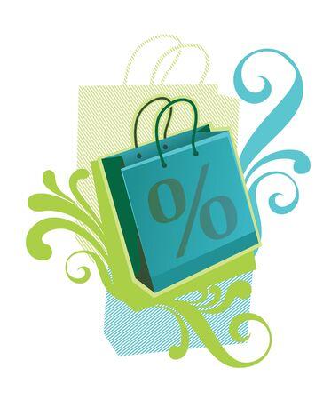 paperbag: Illustration of paperbag for Sale