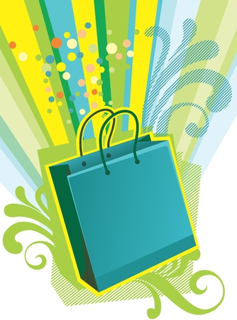 Illustration of shopping bags Vector