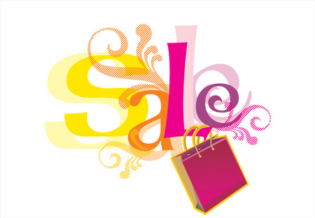 sales person: Illustration of  Sale Illustration