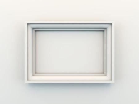 A 3D illustration of empty frame. illustration