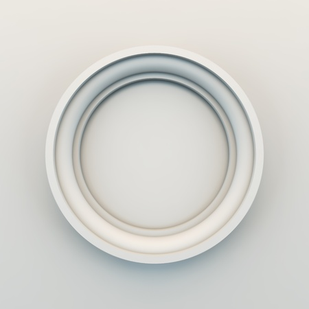 whiteness: A 3D illustration of empty frame.