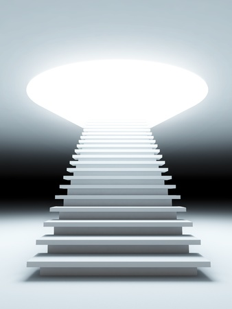 A 3d illustration of a stair to the future. Stock Photo
