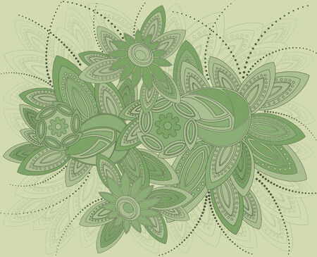 illustration of background in art nouveau style. Vector