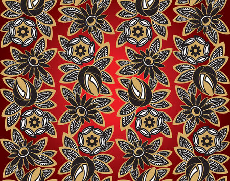 illustration of seamless ornament in art nouveau style.