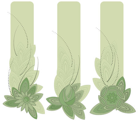 illustration of banners in art nouveau style. Vector