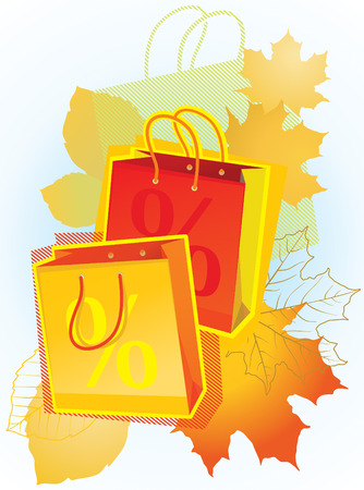 illustration of shopping bags for sales promotion. Stock Vector - 8893171