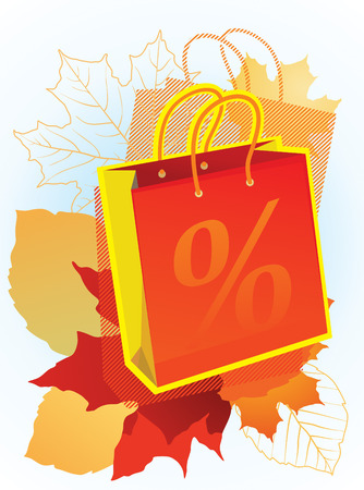 illustration of shopping bag for sales promotion. Stock Vector - 8893173