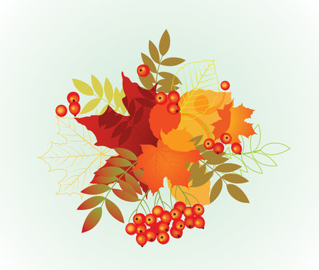 illustration of autumn leafs for background.