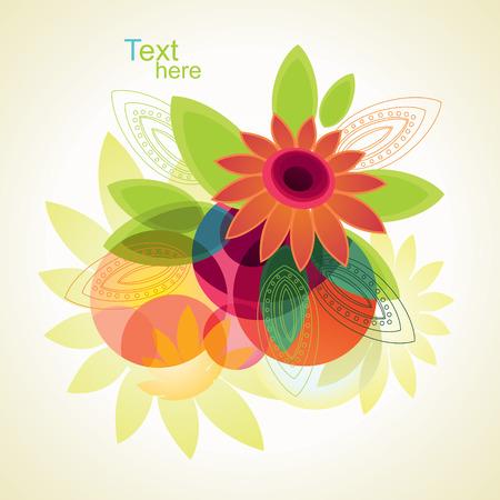 Hintergrund der Blumen und leafs. Standard-Bild - 8893183