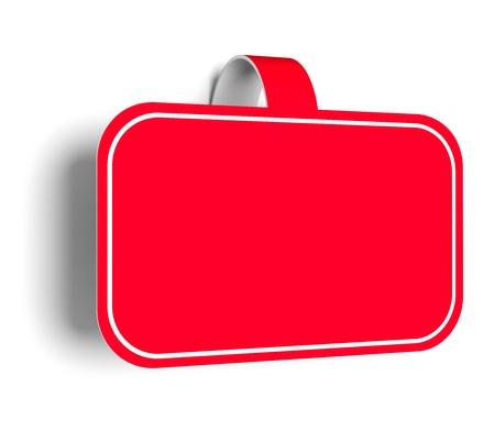 balise: Une illustration 3d d'autocollant pour promouvoir les diff�rents produits.
